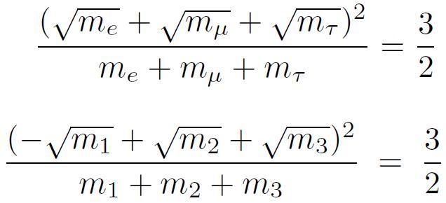 Koide formula